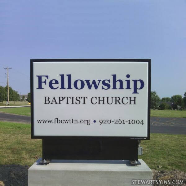 Church Sign for Fellowship Baptist Church