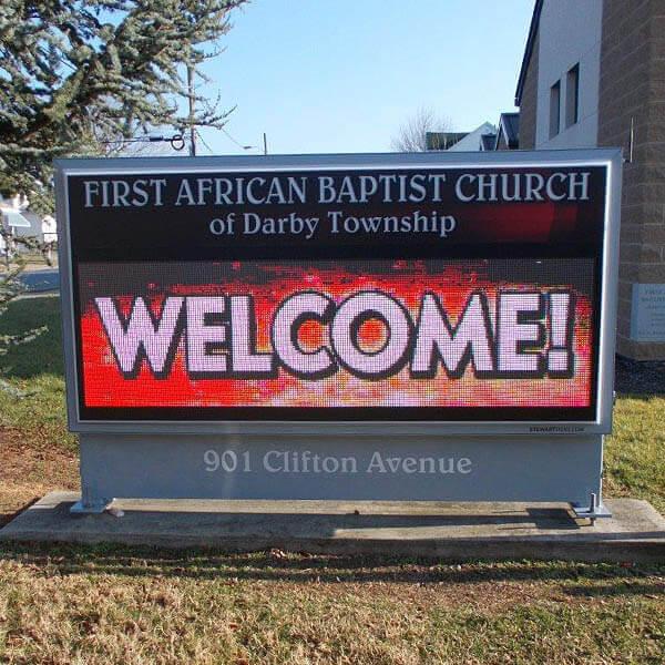 Church Sign for First African Baptist Church