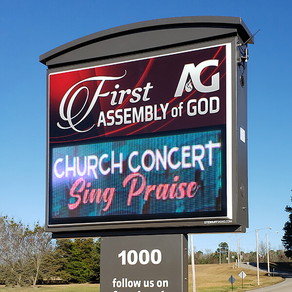 Church Sign for First Assembly Of God