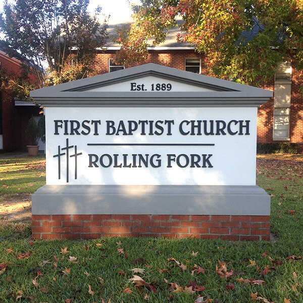 Church Sign for Rolling Fork First Baptist Church