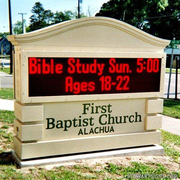 Church Sign for First Baptist Church Of Alachua