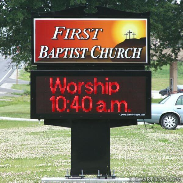 Church Sign for First Baptist Church