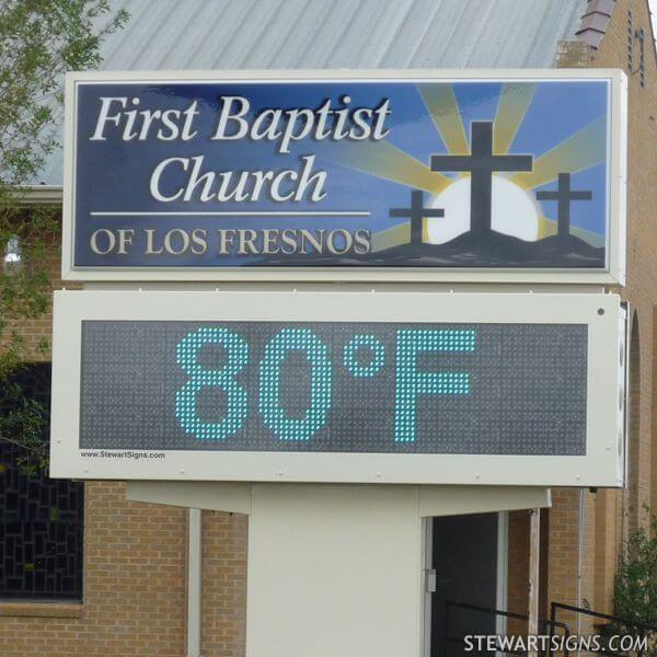 Church Sign for First Baptist Church - Los Fresnos