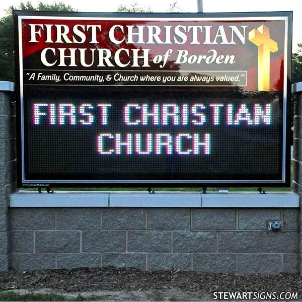 Church Sign for First Christian Church