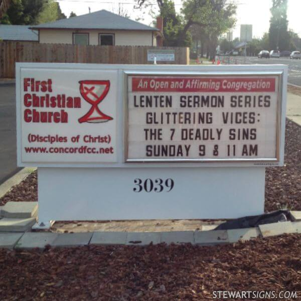 Church Sign for First Christian Church Of Concord