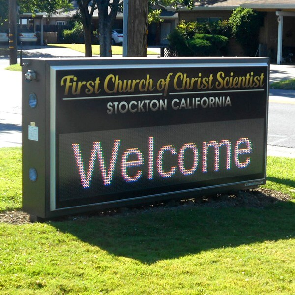 Church Sign for First Church Of Christ Scientist