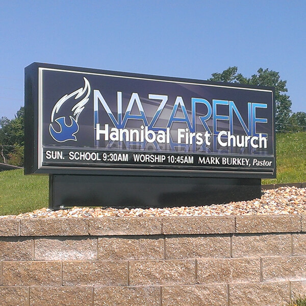 Church Sign for First Church Of The Nazarene