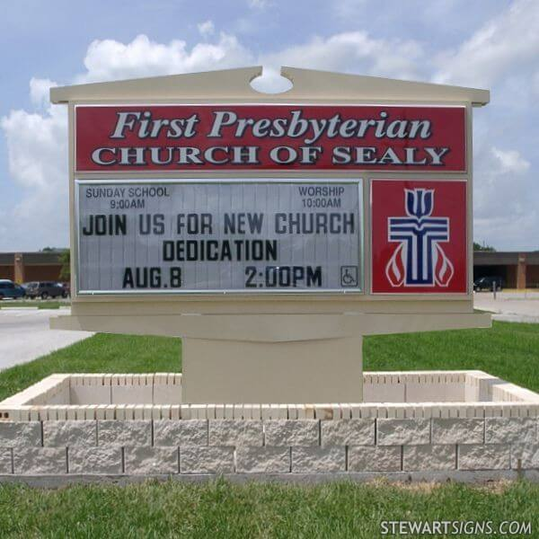 Church Sign for First Presbyterian Church Of Sealy