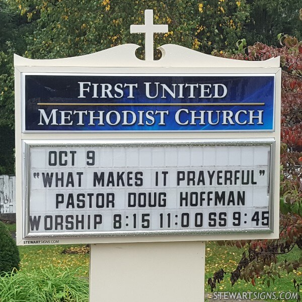 Church Sign for First United Methodist Church