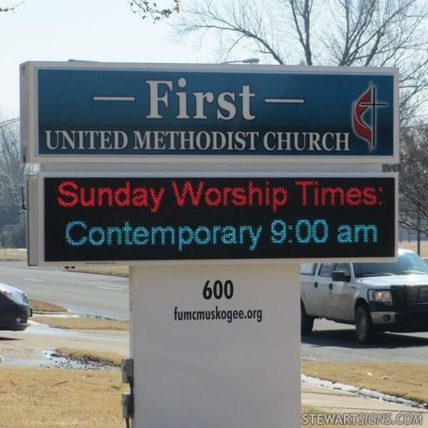 Church Sign for First United Methodist Church