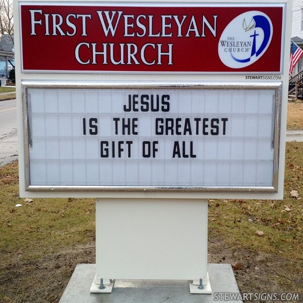 Church Sign for First Wesleyan Church