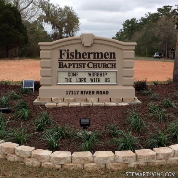 Church Sign for Fishermen Baptist Church