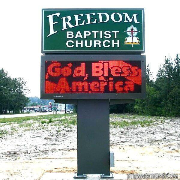 Church Sign for Freedom Baptist Church