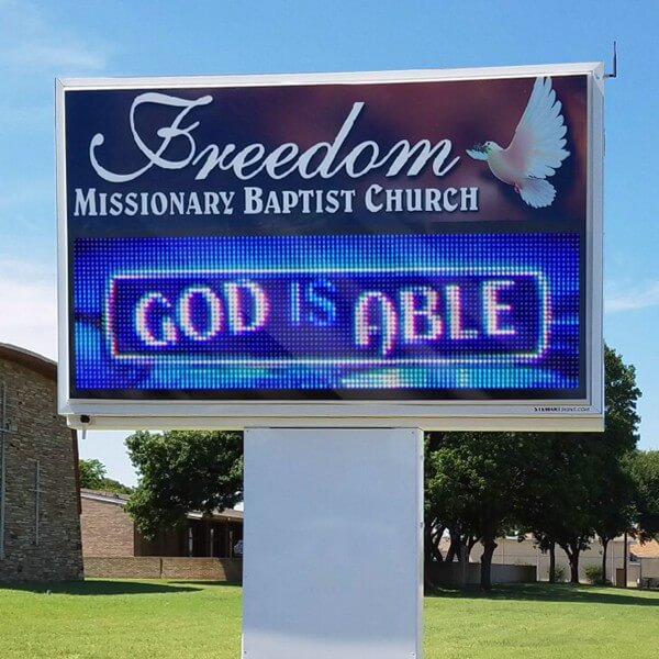 Church Sign for Freedom Missionary Baptist Church