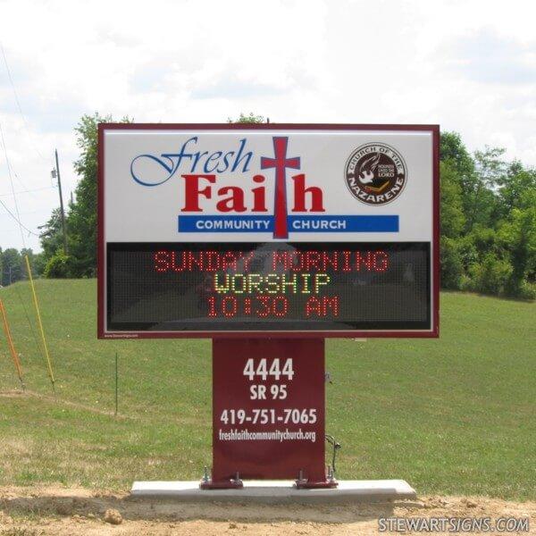Church Sign for Fresh Faith Community Church