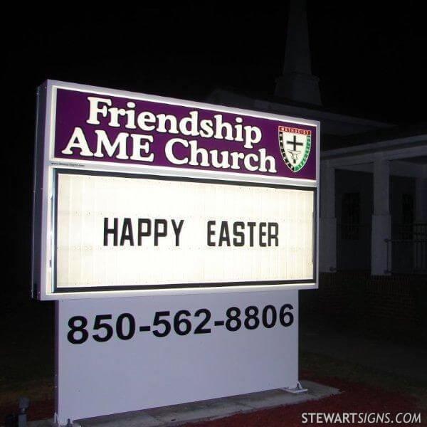 Church Sign for Friendship African Methodist Episcopal Church