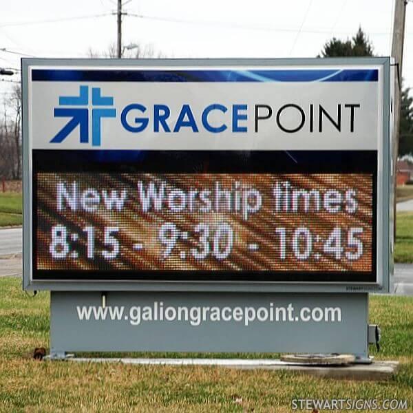 Church Sign for Galion Free Methodist Church