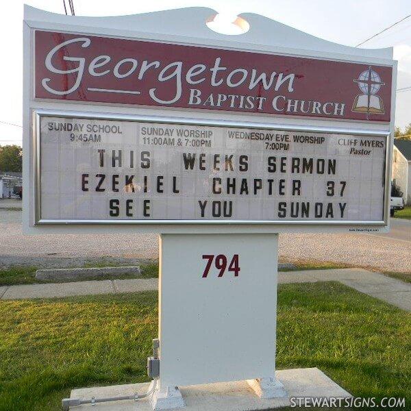 Church Sign for Georgetown Baptist Church