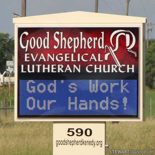 Church Sign for Good Shepherd Evangelical Lutheran Church