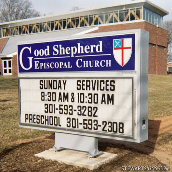 Church Sign For Good Shepherd Episcopal Church Silver Spring Md