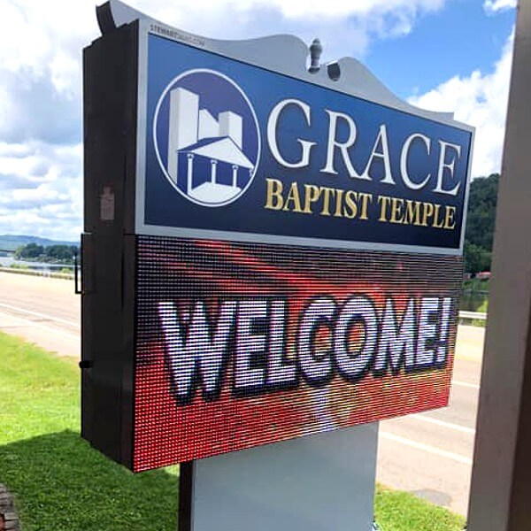 Church Sign for Grace Baptist Church