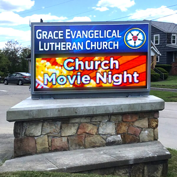 Church Sign for Grace Evangelical Lutheran Church