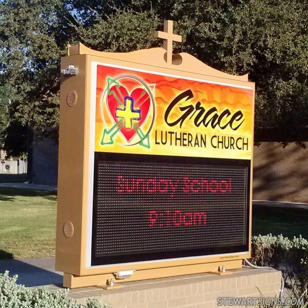 Church Sign for Grace Lutheran Church
