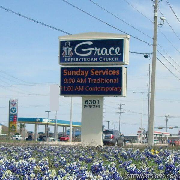 Church Sign for Grace Presbyterian Church