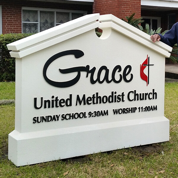 Church Sign for Grace United Methodist Church