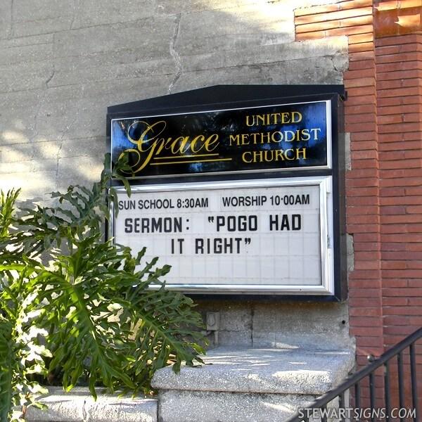 Church Sign for Grace United Methodist Church