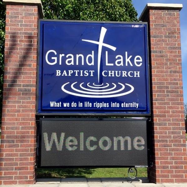 Church Sign for Grand Lake Baptist Church