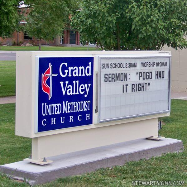 Church Sign for Grand Valley United Methodist  Church