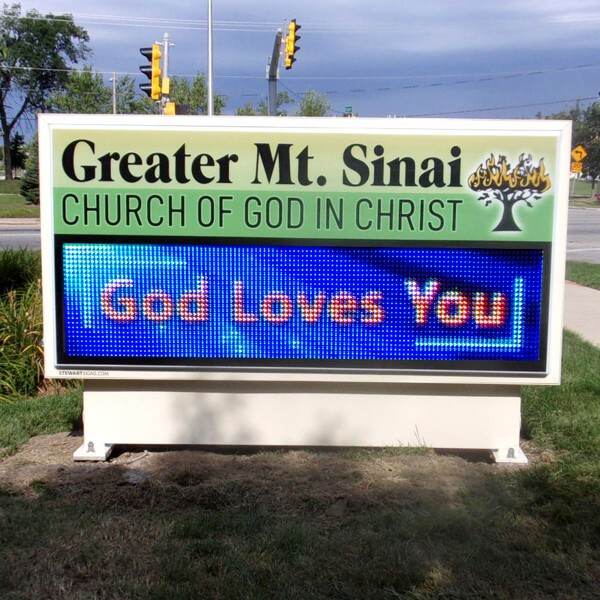 Church Sign for Greater Mount Sinai Church Of God In Christ