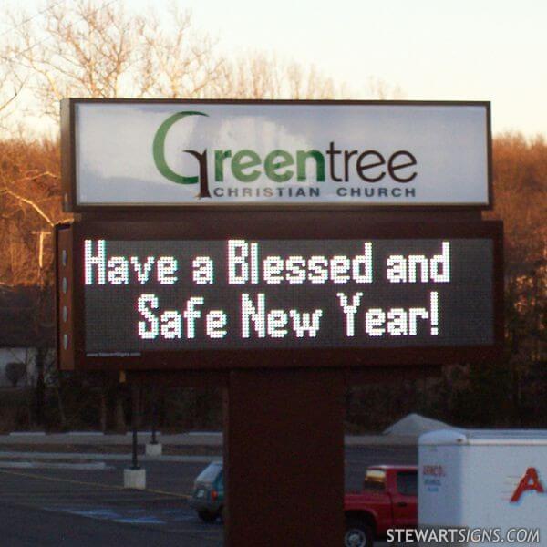 Church Sign for Greentree Christian Church - Rolla, MO