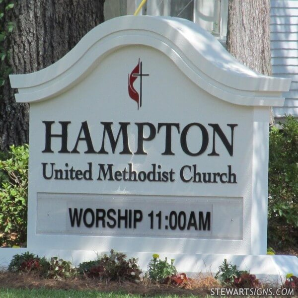 Church Sign for Hampton United Methodist Church