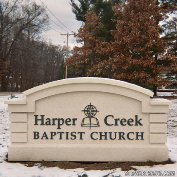 Church Sign for Harper Creek Baptist Church
