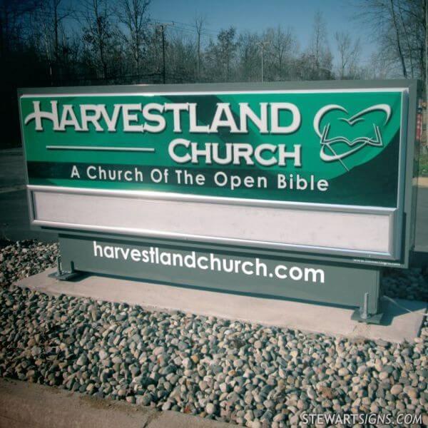 Church Sign for Harvestland Church