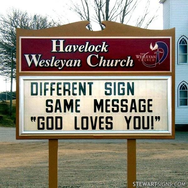 Church Sign for Havelock Wesleyan Church