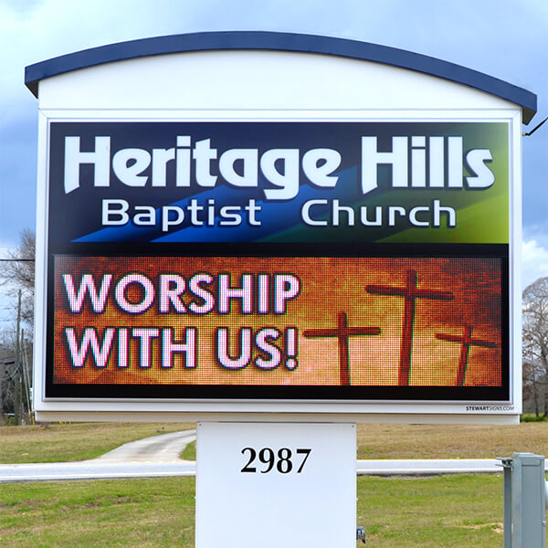 Church Sign for Heritage Hills Baptist Church