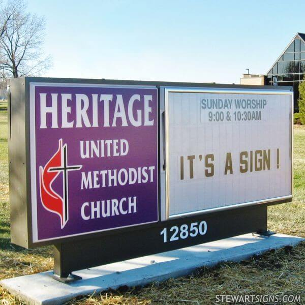Church Sign for Heritage United Methodist Church