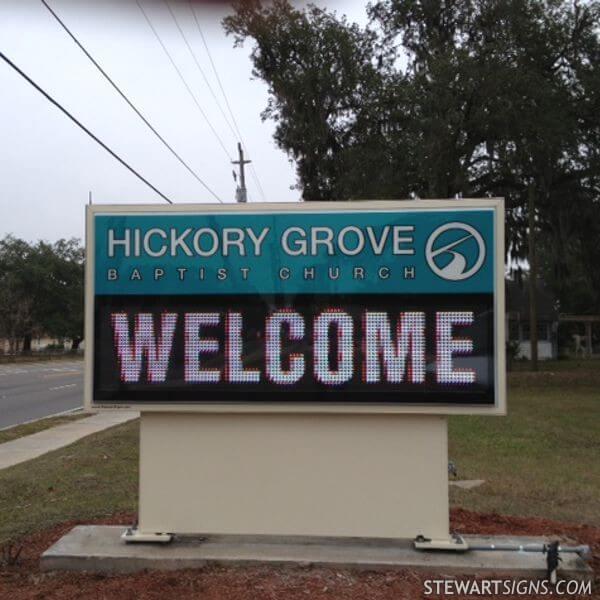 Church Sign for Hickory Grove Baptist Church