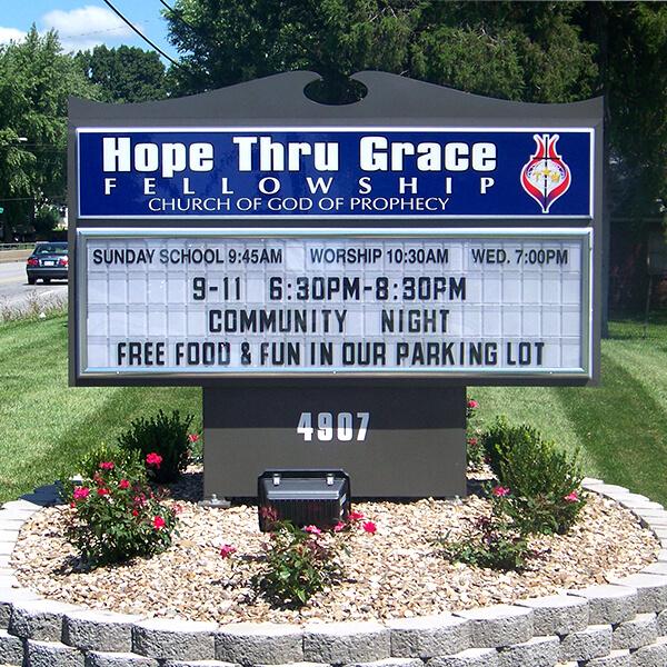 Church Sign for Hope Thru Grace Fellowship
