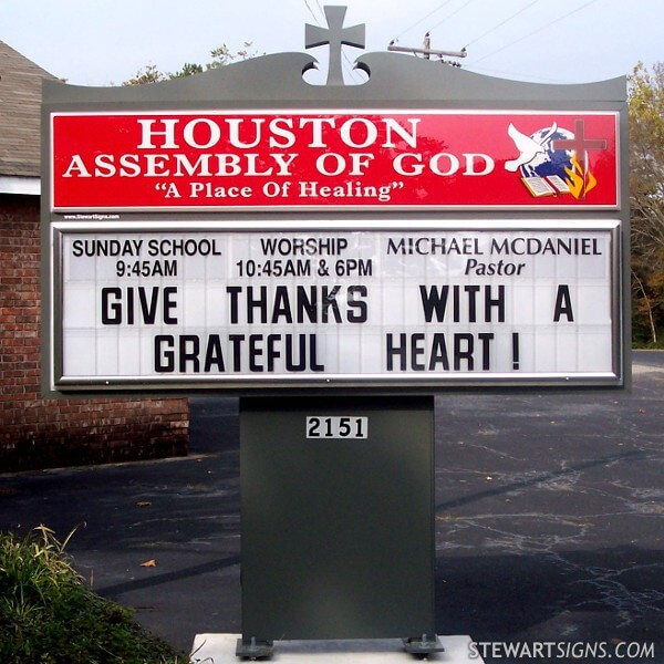 Church Sign for Houston Assembly Of God