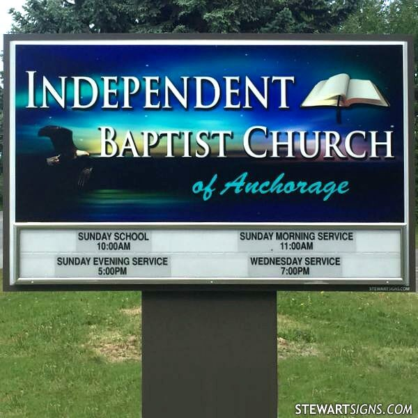 Church Sign for Independent Baptist Church Of Anchorage