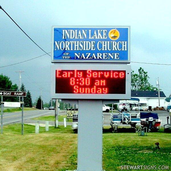 Church Sign for Indian Lake Church Of The Nazarene