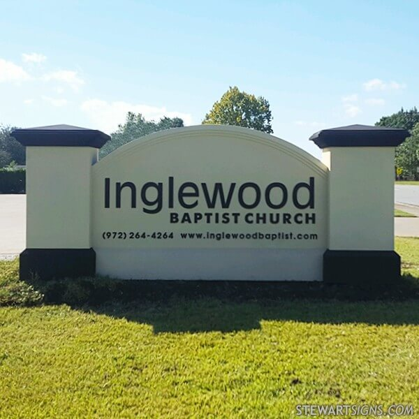 Church Sign for Inglewood Baptist Church