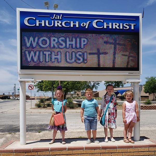 Church Sign for Jal Church Of Christ