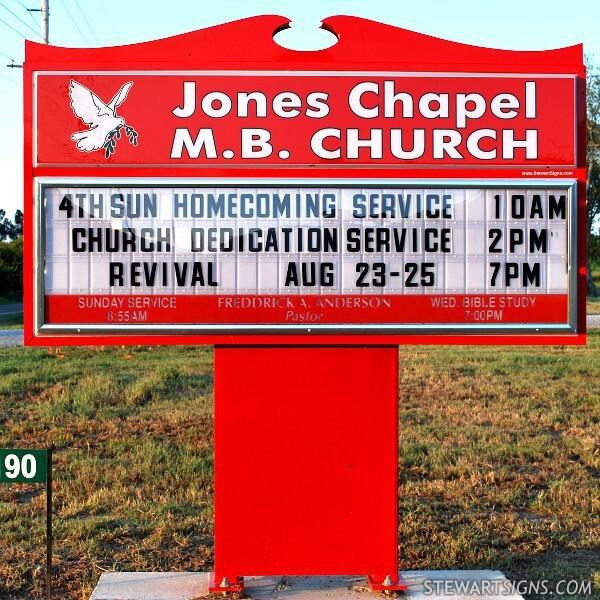 Church Sign for Jones Chapel