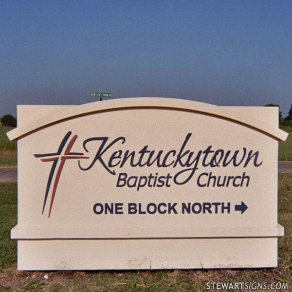 Church Sign for Kentuckytown Baptist Church