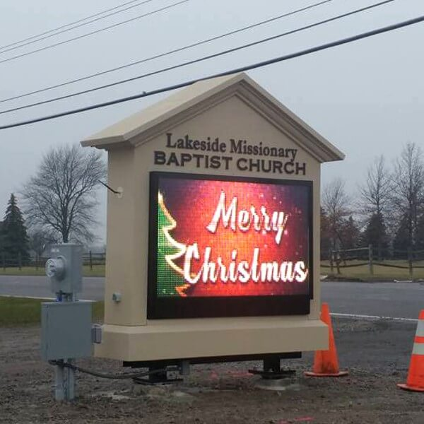 Church Sign for Lakeside Missionary Baptist Church